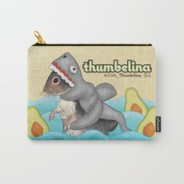 Little Thumbelina Girl: avocado shark Carry-All Pouch