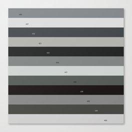 Pantone gray scale Canvas Print