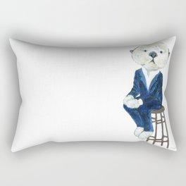 Business Casual Otter Rectangular Pillow
