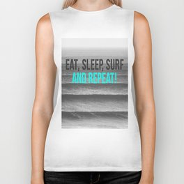 EAT, SLEEP, SURF AND REPEAT! Biker Tank