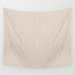 Art Deco Arch Pattern XIV - Light Neutral Wall Tapestry