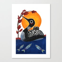 Baby Loon Canvas Print