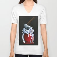 haunted mansion V-neck T-shirts featuring Disneyland Haunted Mansion inspired Haunted Bride Candied Apple  by ArtisticAtrocities