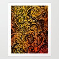 hakuna Art Prints featuring Hakuna Matata by Doodle Design