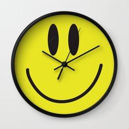 Acid house '91 vintage smiley face Wall Clock