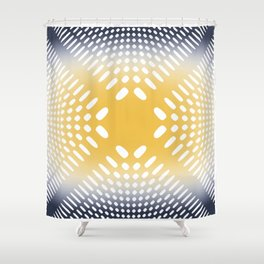 Holey Pattern Shower Curtain