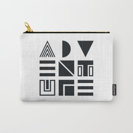 Geometric Adventure B&W Carry-All Pouch