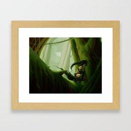 Queen of Green Framed Art Print