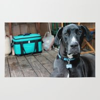 great dane Area & Throw Rugs featuring A Great Dane by Rachel Leah