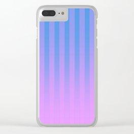 Gradient Stripes Pattern bp Clear iPhone Case