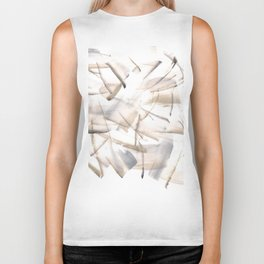 180630 Grey Black Neutral Brown Abstract Watercolour 5| Watercolor Brush Strokes Biker Tank