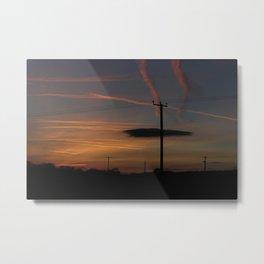 English Lincolnhire Sky at Sunset Metal Print