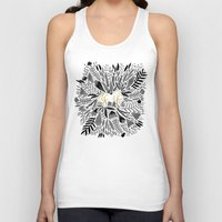 black and gold Tank Tops featuring As If – Black & Gold by Cat Coquillette
