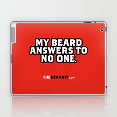 MY BEARD ANSWERS TO NO ONE. Laptop & iPad Skin