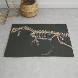 Dilophosaurus Wetherilli Skeleton Study (No Labels) Rug