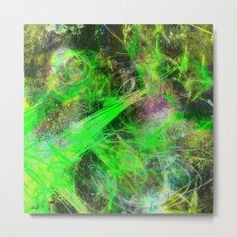 Neon Galaxy - Abstract Metal Print