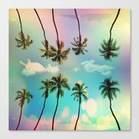 palm trees Canvas Prints featuring Palm trees  by mark ashkenazi