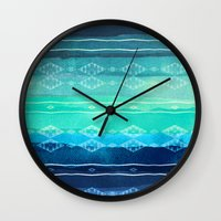 aelwen Wall Clocks featuring ocean by spinL