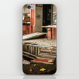 Old books on the street iPhone Skin