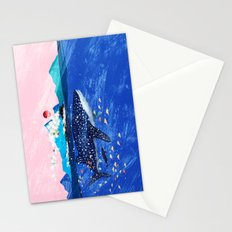 WHALE SHARK AND STEAM TRAIN Stationery Cards