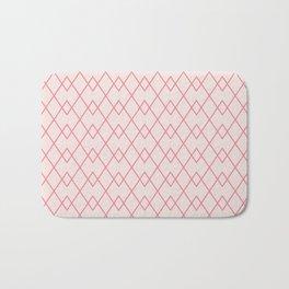 Pink Cream Argyle Pattern Bath Mat