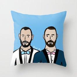 Beard Boy: Albert & Lucho Throw Pillow