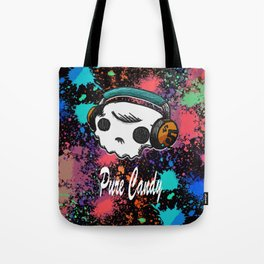 Skull headphones Pure Candy Tote Bag