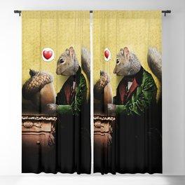Mr. Squirrel Loves His Acorn! Blackout Curtain