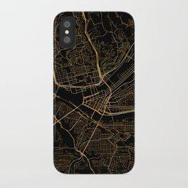 Pittsburgh map, Pennsylvania iPhone Case