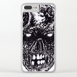 Black Zombie Rotten Clear iPhone Case