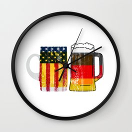Prost Cheers German American Oktoberfest  Wall Clock