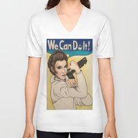 leia V-neck T-shirts featuring Leia by seventhwonderwitch