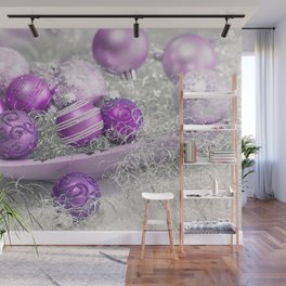 Fancy pink christmas Wall Mural