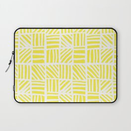 Weave Pattern - Yellow Laptop Sleeve
