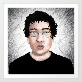 Green Eyed Guy Art Print