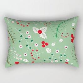 Mistletoe green Rectangular Pillow
