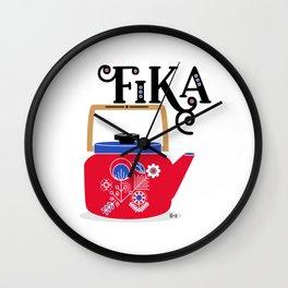 Fika - Red Wall Clock