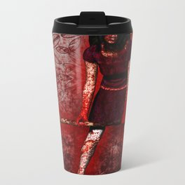 Linda - Blood-Soaked, Holding Bat Metal Travel Mug