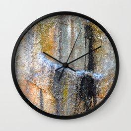 Colored Stone Wall Clock