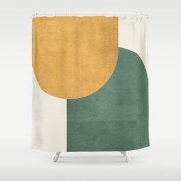 Halfmoon Colorblock 2 - Gold Green  Shower Curtain