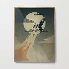 Night Launch Metal Print