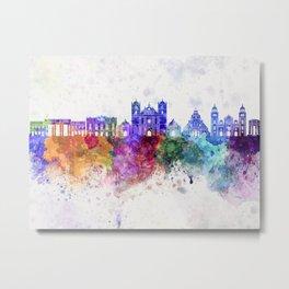 Tegucigalpa skyline in watercolor background Metal Print