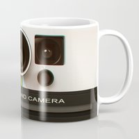 polaroid Mugs featuring POLAROID by MiliarderBrown