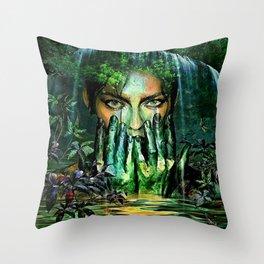 MYSTICAL WATERFALL Throw Pillow