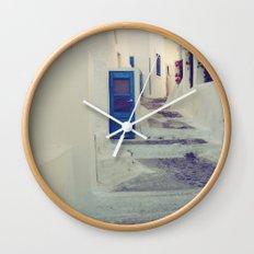 Santorini Door III Wall Clock