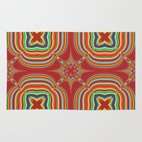 kaleidoscope Area & Throw Rugs featuring Kaleidoscope by David Zydd