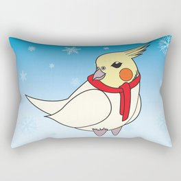 Holiday Cockatiel Rectangular Pillow