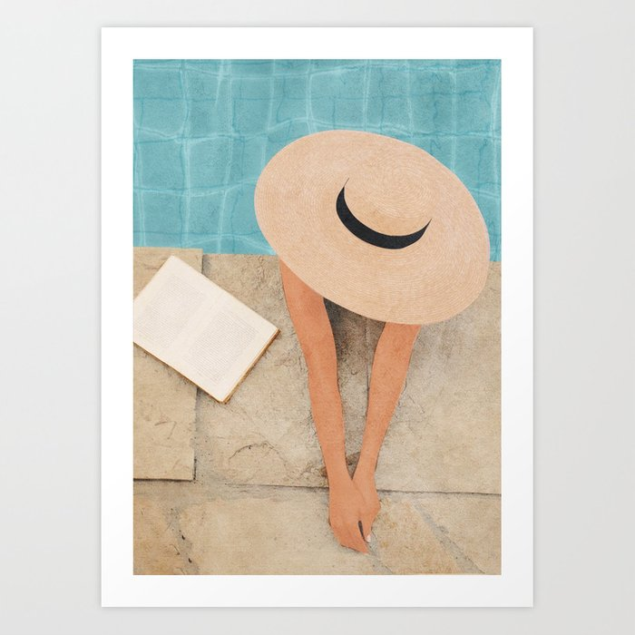 On the edge of the Pool II Art Print