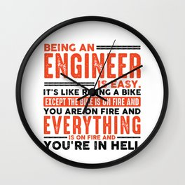 Being a Pharmacist Is Easy Shirt Everything On Fire Wall Clock
