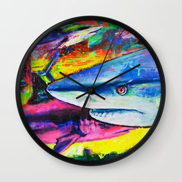 Shark Colors Wall Clock